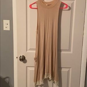 Dress with lace endings